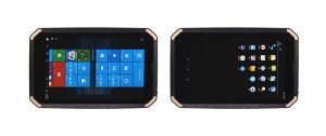Windows and android ruggedized tablet