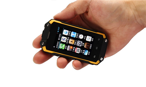 Smallest military grade cell phone S1 held in one hand