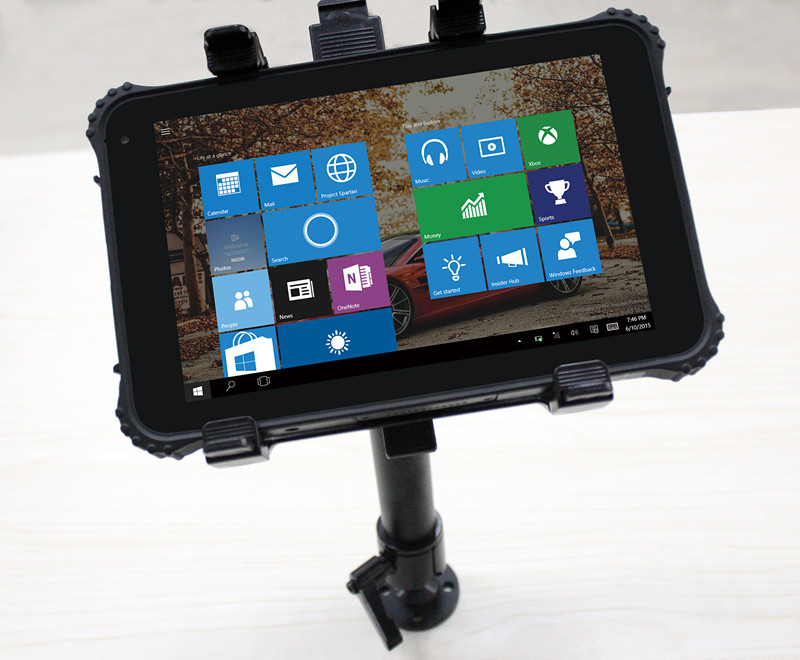 Rugged tablet with vehicle stand