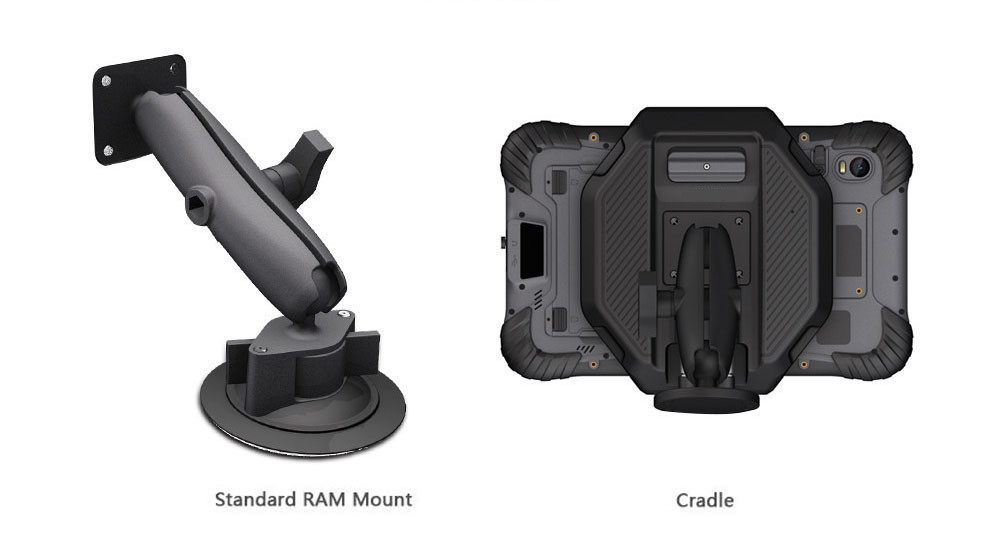 standard RAM mount and cradle for Industrial Android Tablet RuggedT T5s