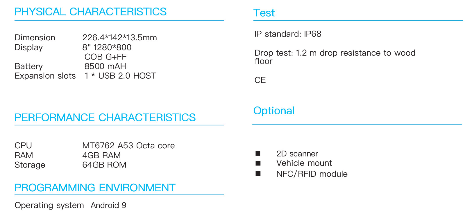 Robust Tablet RuggedT T2S